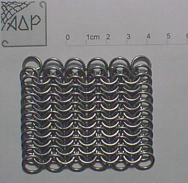 Полотно европейского плетения 6-в-1, кольцо 1.5х7 мм.