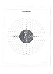 Air pistol target, 36kb